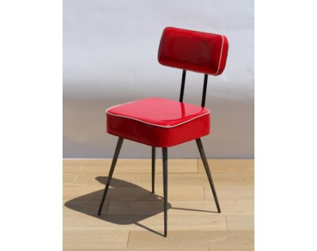 Chaise  Chaise vinyle rouge